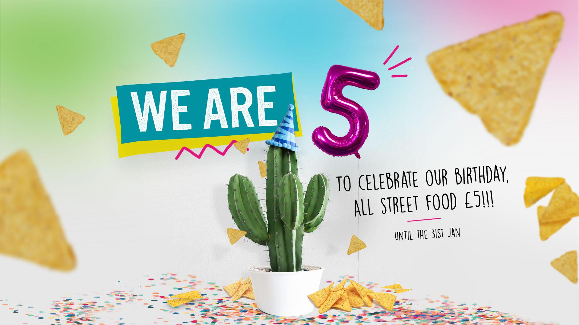 Muchacho 5th Birthday Banner